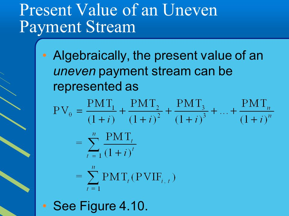 Present Value of an Uneven Payment Stream