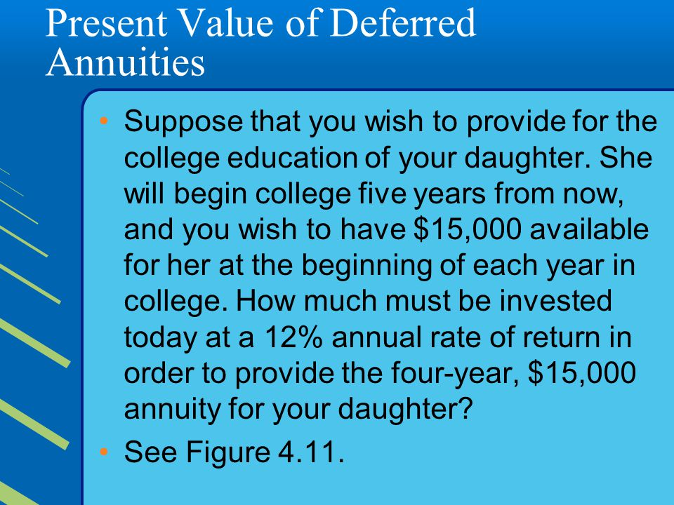 Present Value of Deferred Annuities