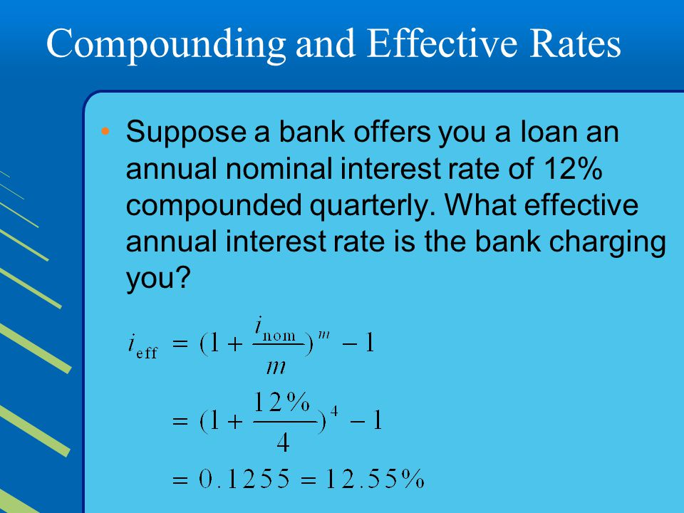 Compounding and Effective Rates