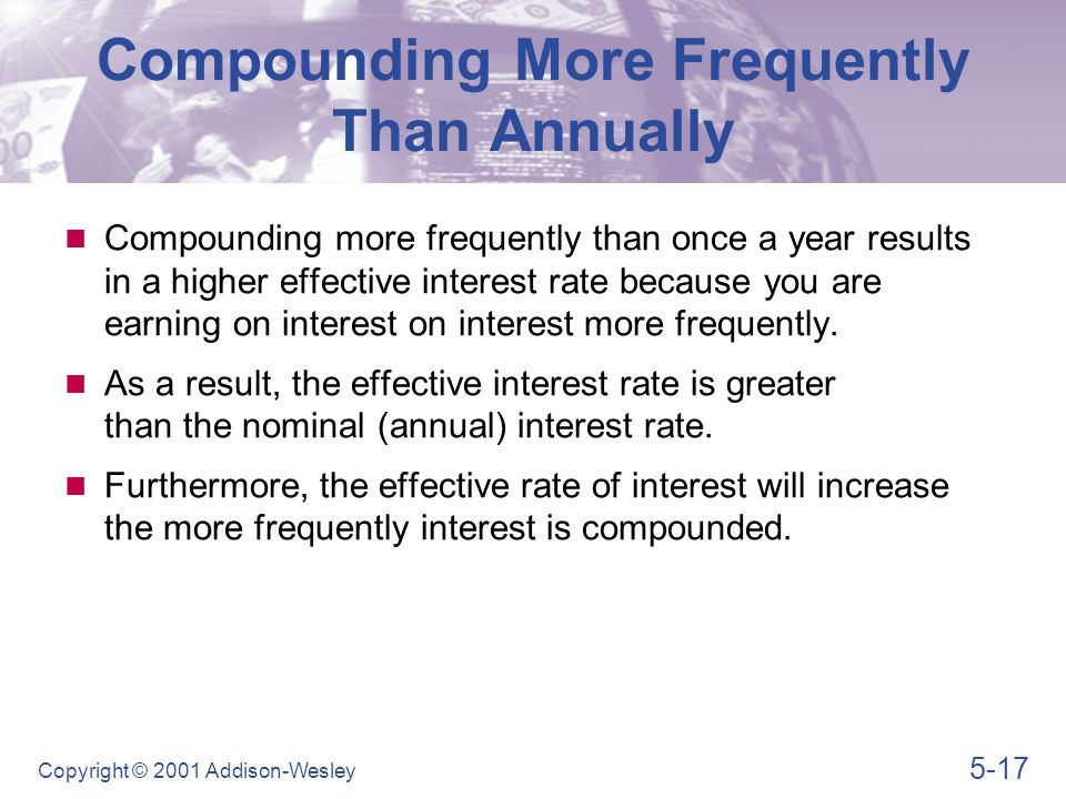 Compounding More Frequently Than Annually