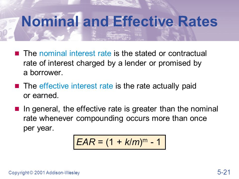 Nominal and Effective Rates
