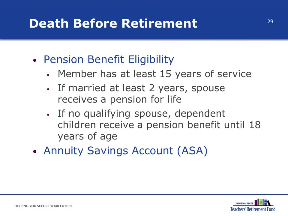 Death Before Retirement