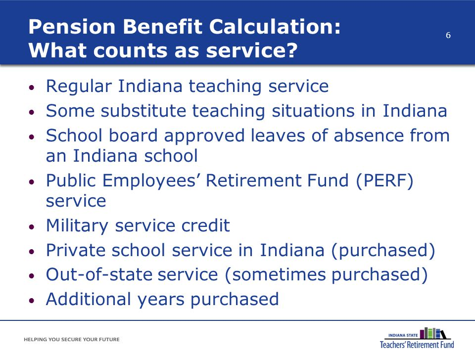 Pension Benefit Calculation: What counts as service