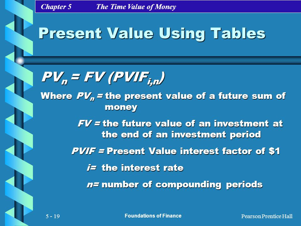 Present Value Using Tables