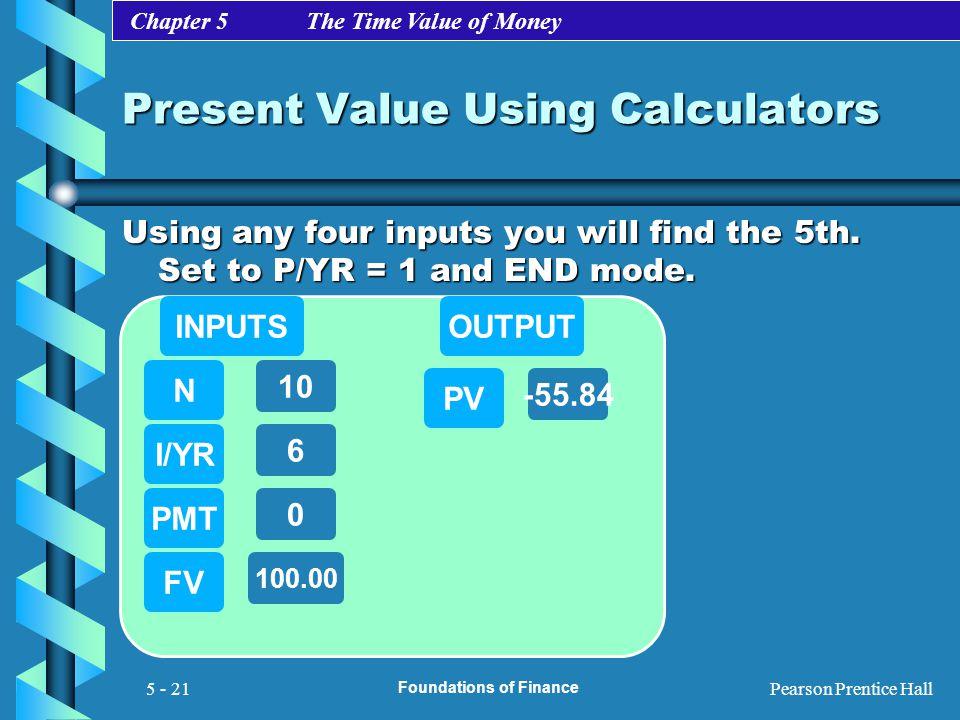 Present Value Using Calculators