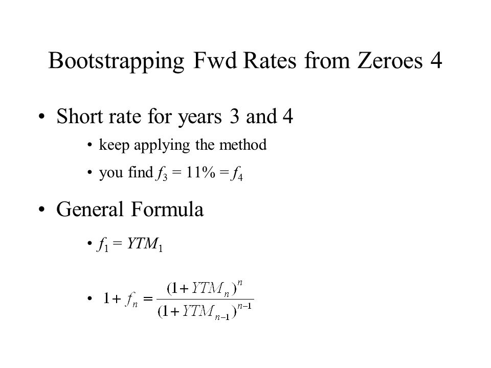 Bootstrapping Fwd Rates from Zeroes 4
