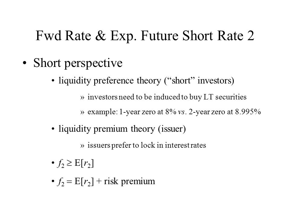Fwd Rate & Exp. Future Short Rate 2