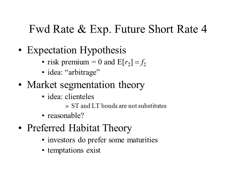 Fwd Rate & Exp. Future Short Rate 4