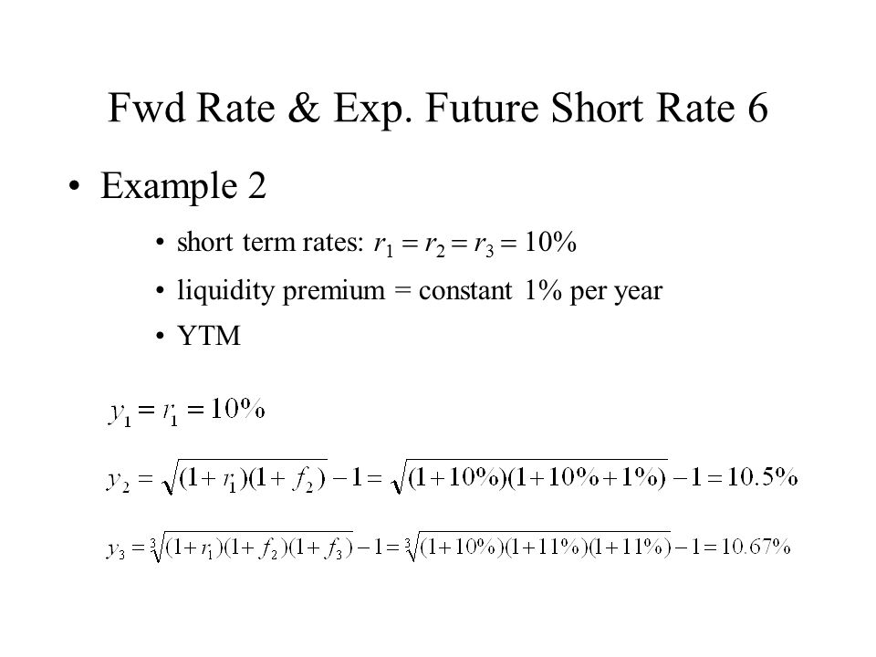 Fwd Rate & Exp. Future Short Rate 6