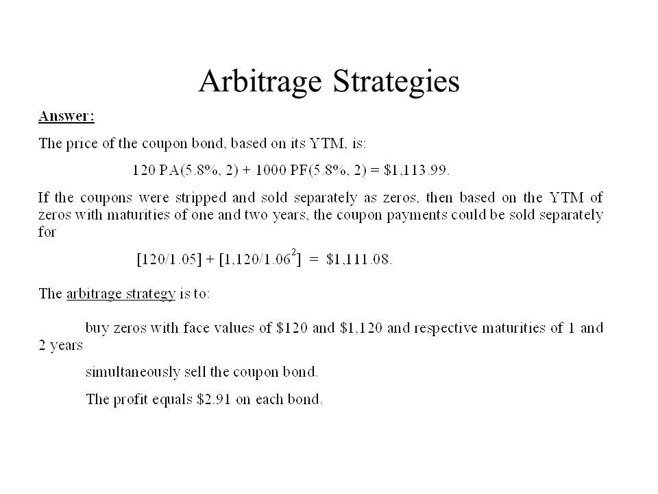 Arbitrage Strategies