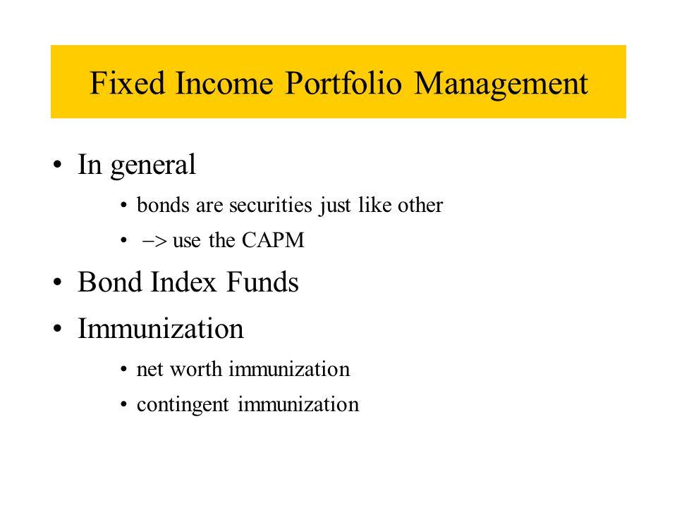 Fixed Income Portfolio Management