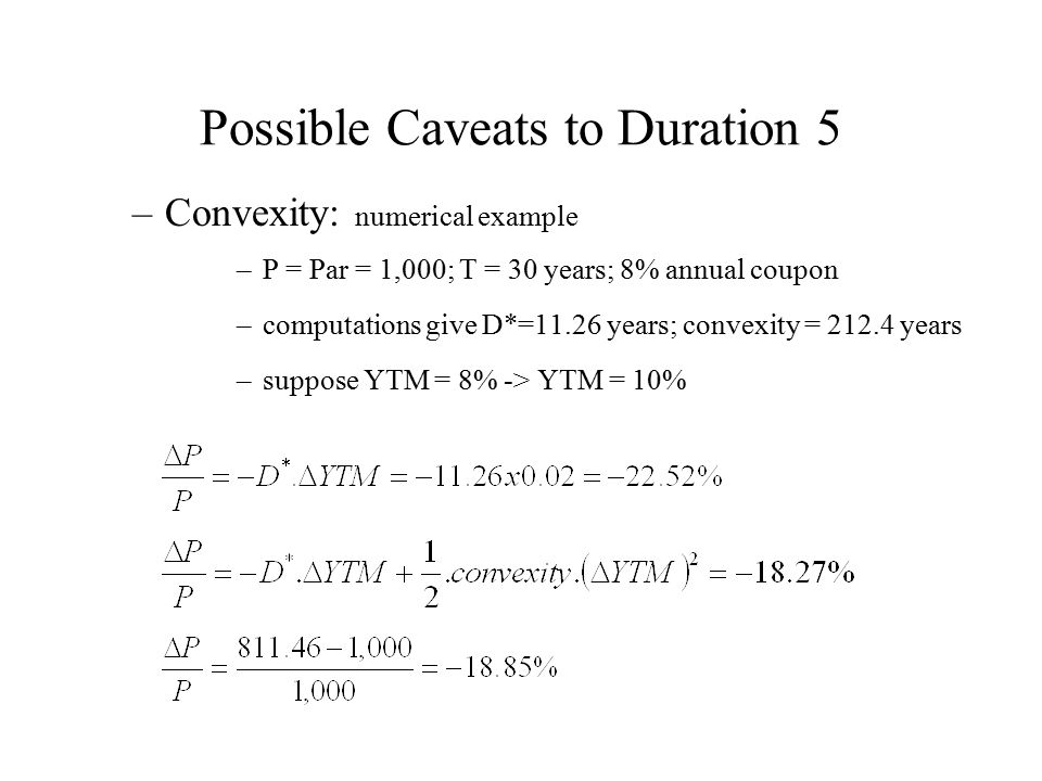 Possible Caveats to Duration 5