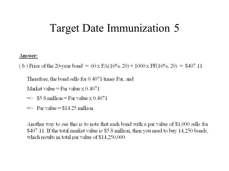 Target Date Immunization 5