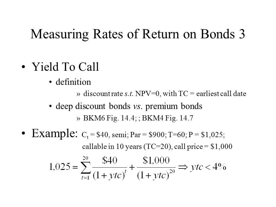 Measuring Rates of Return on Bonds 3
