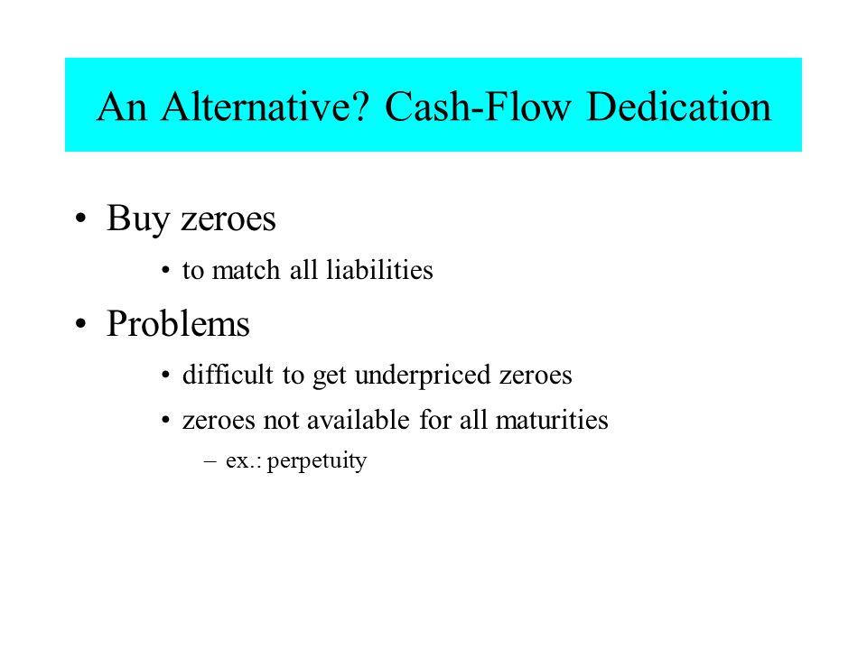 An Alternative Cash-Flow Dedication