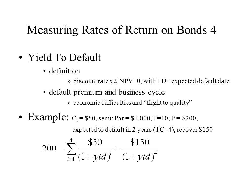 Measuring Rates of Return on Bonds 4