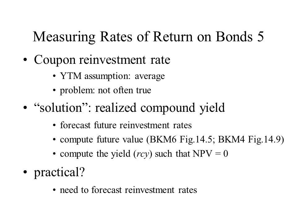 Measuring Rates of Return on Bonds 5