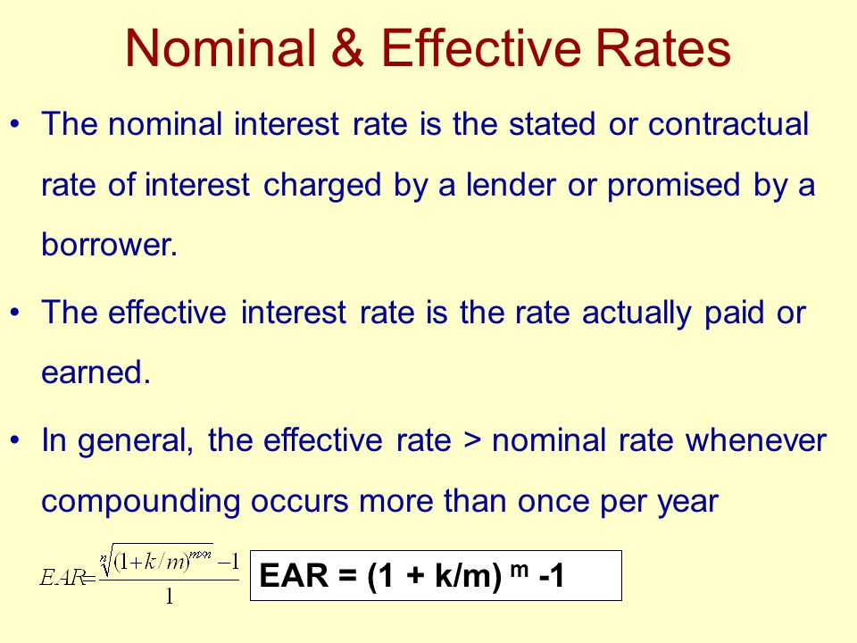 Nominal & Effective Rates