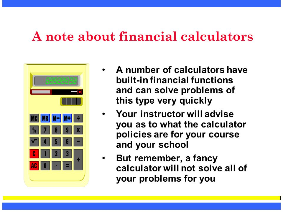 A note about financial calculators