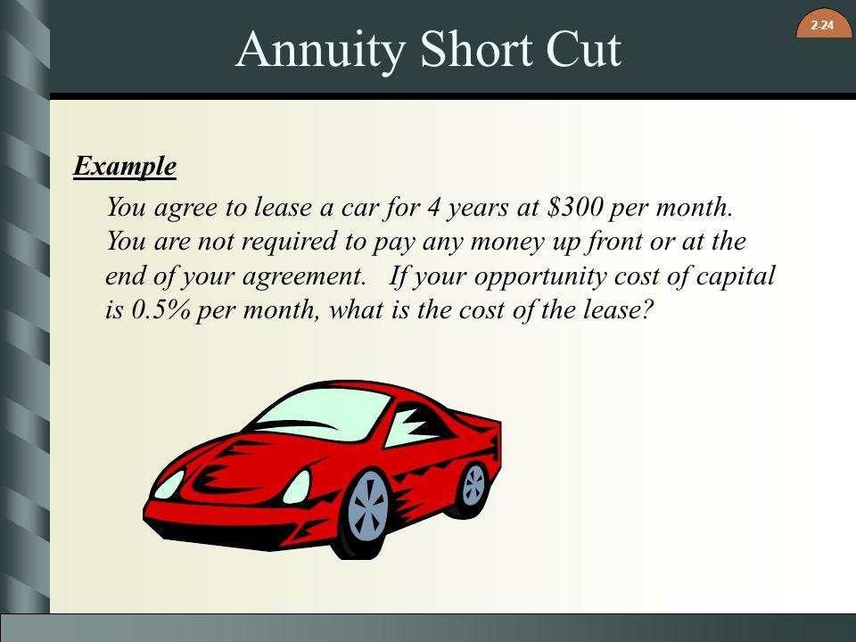 Annuity Short Cut Example