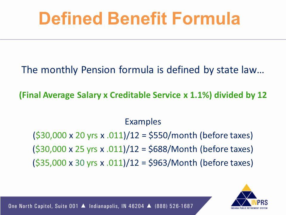Defined Benefit Formula