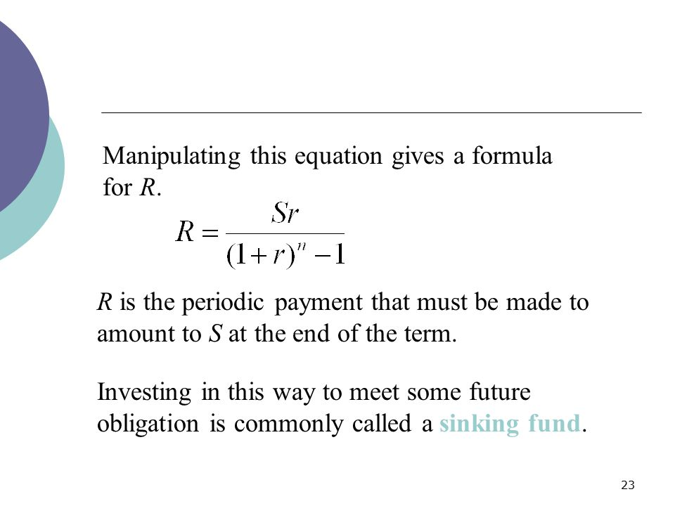 Manipulating this equation gives a formula for R.