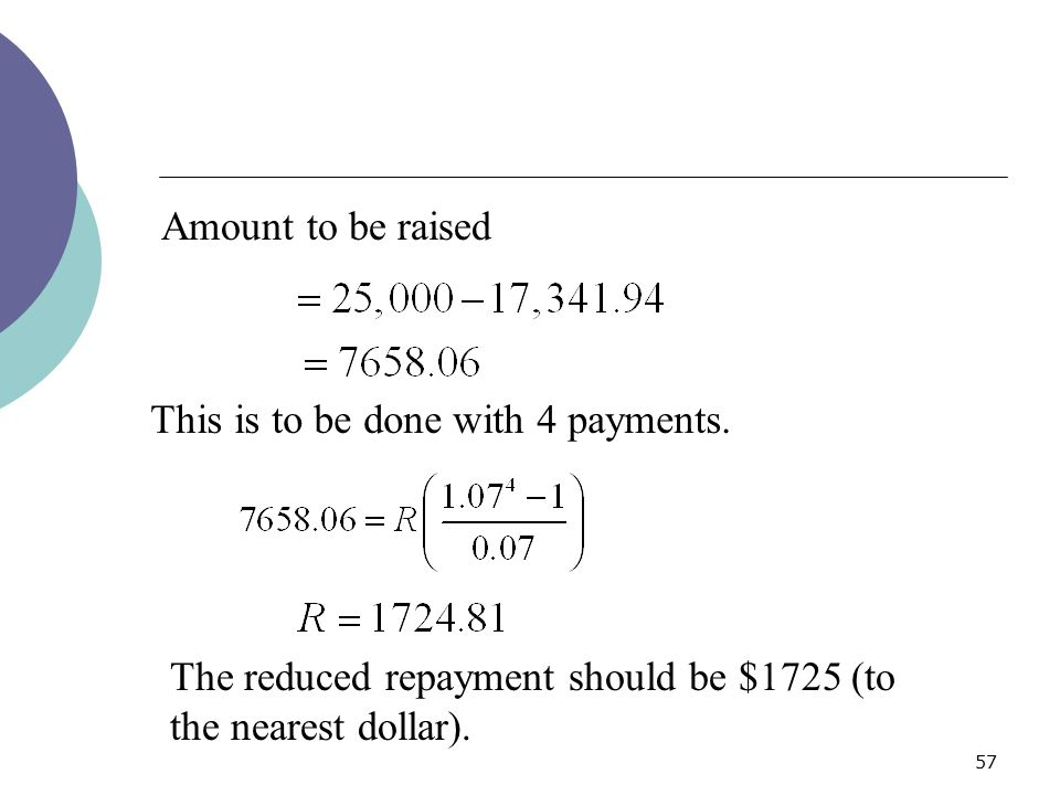 Amount to be raised This is to be done with 4 payments.