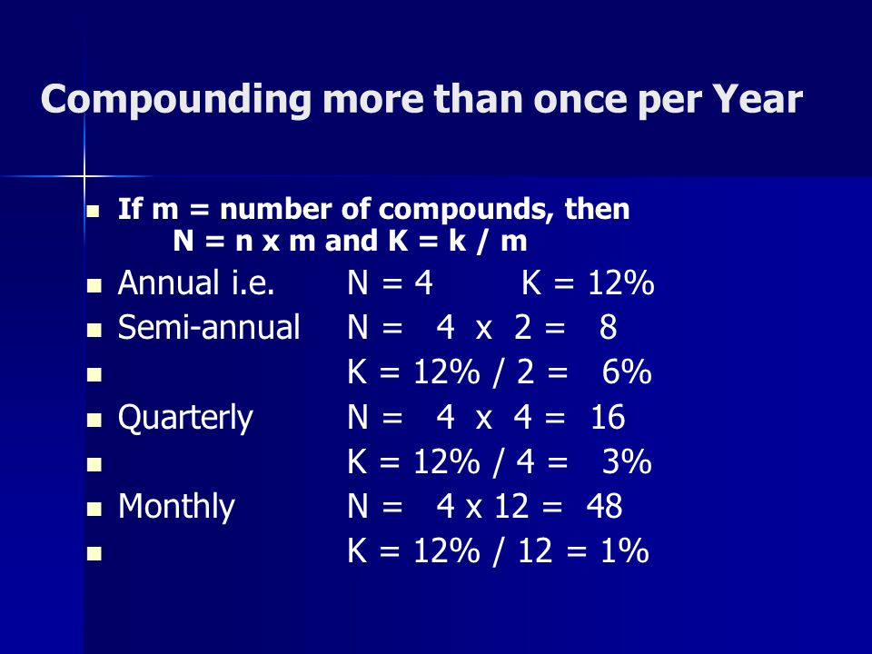 Compounding more than once per Year