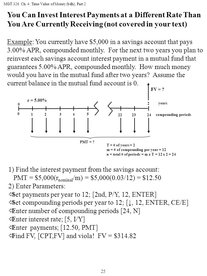 MGT 326 Ch. 4: Time Value of Money (bdh), Part 2