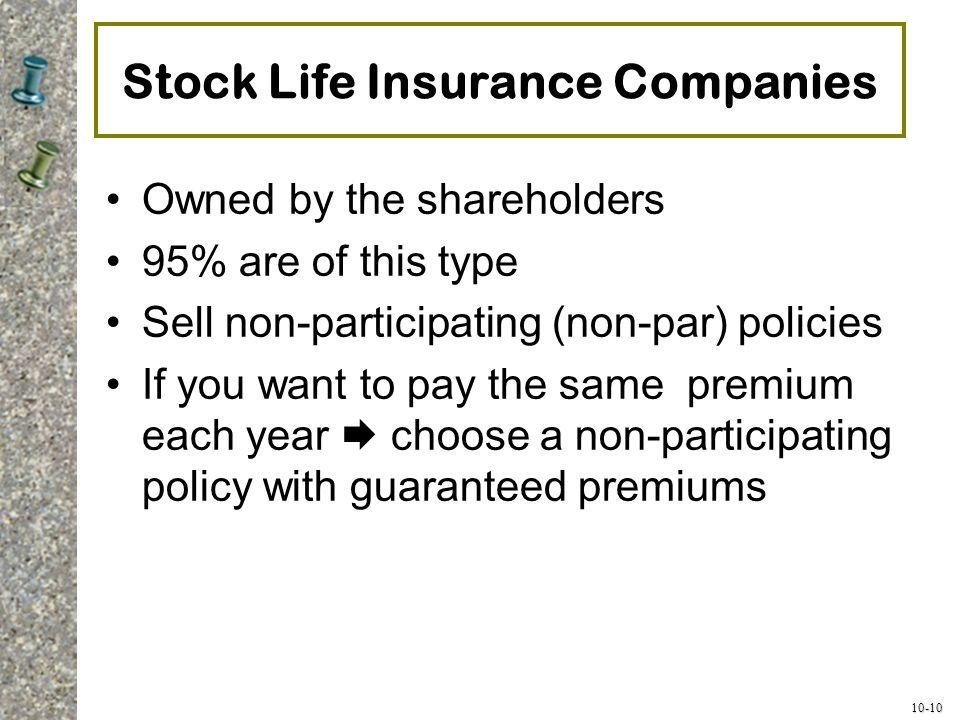 Stock Life Insurance Companies