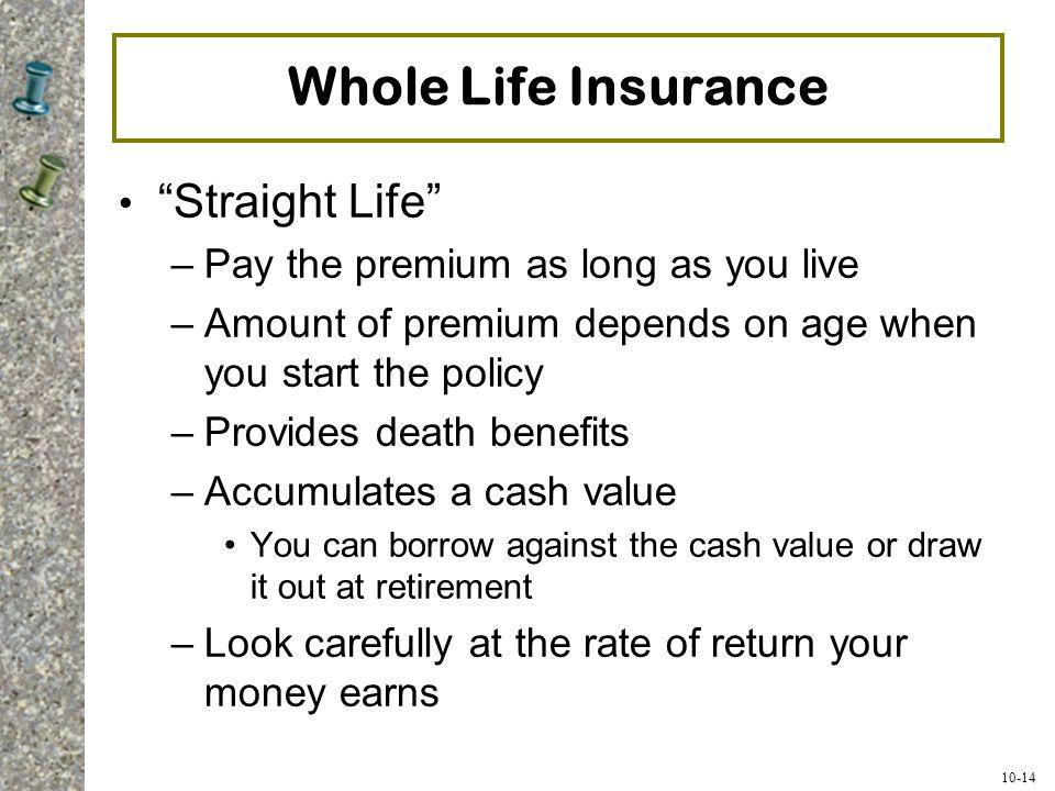 Whole Life Insurance Straight Life