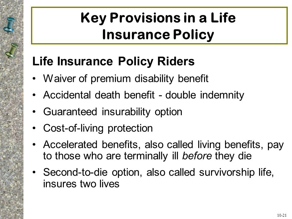 Key Provisions in a Life Insurance Policy
