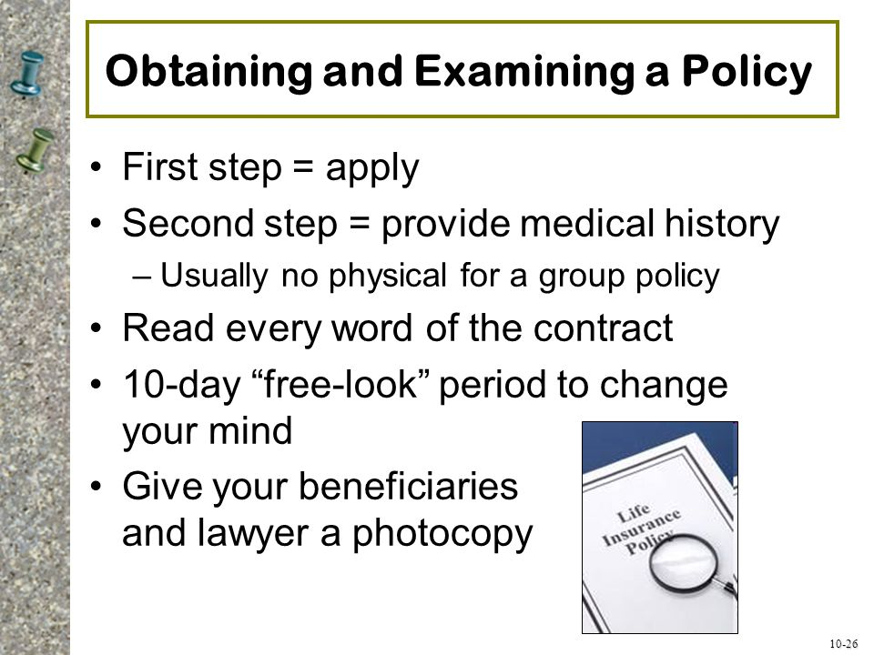 Obtaining and Examining a Policy