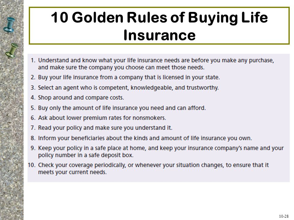 10 Golden Rules of Buying Life Insurance