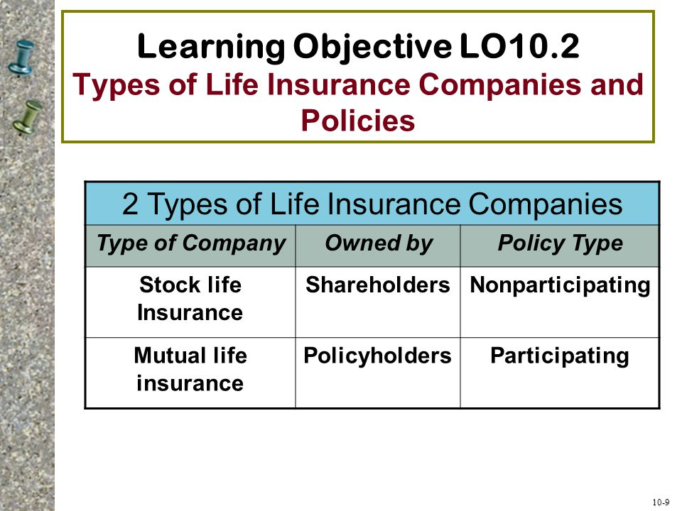 2 Types of Life Insurance Companies
