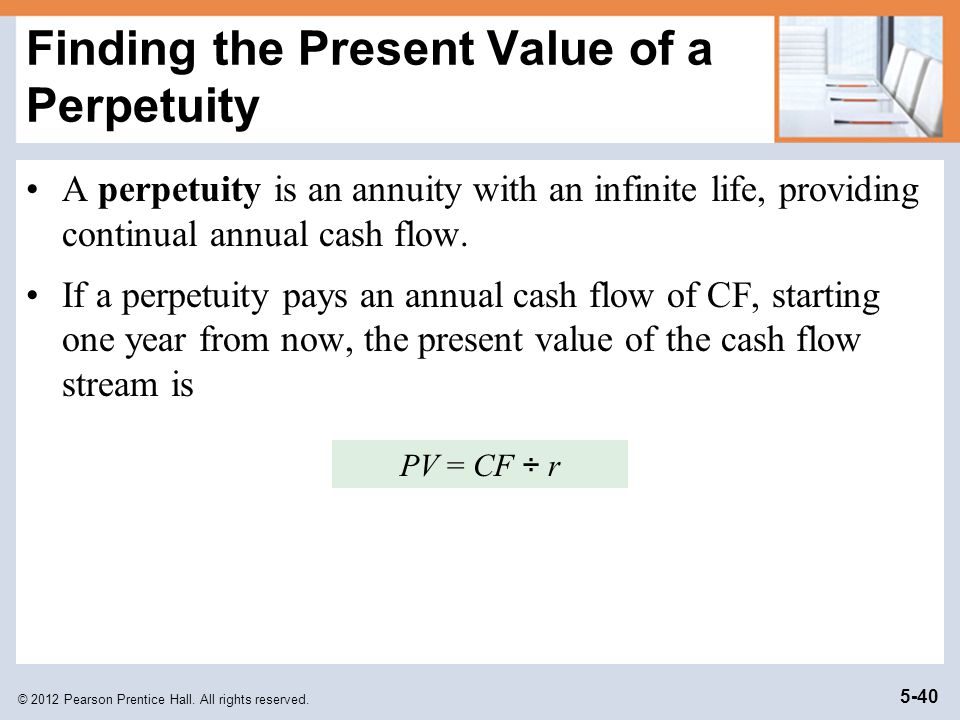 Finding the Present Value of a Perpetuity