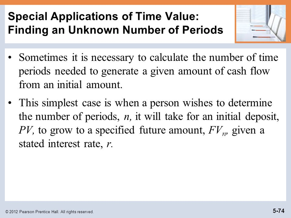 Special Applications of Time Value: Finding an Unknown Number of Periods
