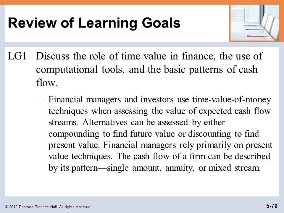 Review of Learning Goals