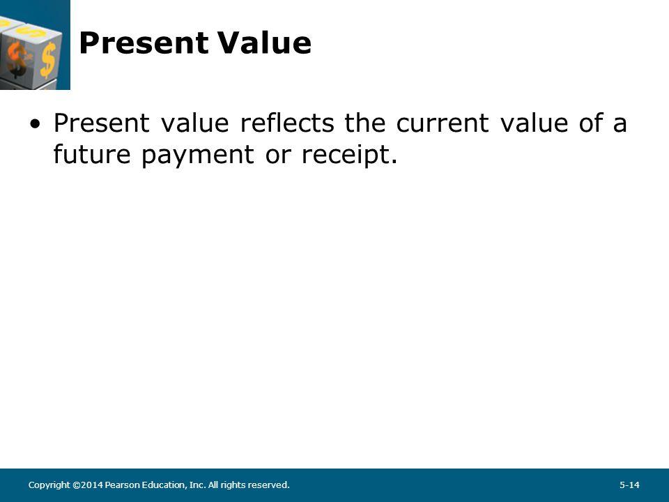 Present Value PV = FVn {1/(1 + r)n}