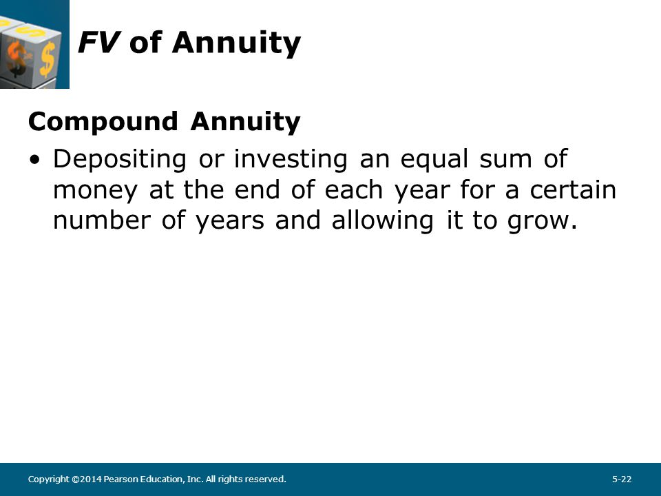 FV Annuity - Example What will be the FV of a 5-year, $500 annuity compounded at 6%