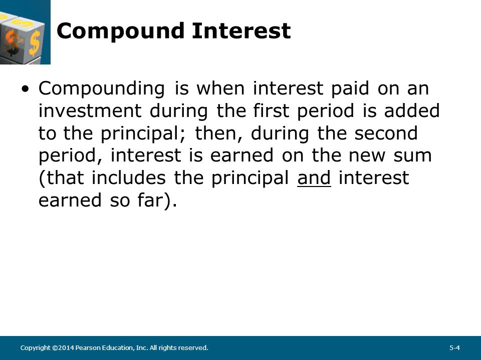 Compound Interest Example: Compute compound interest on $100 invested at 6% for three years with annual compounding.