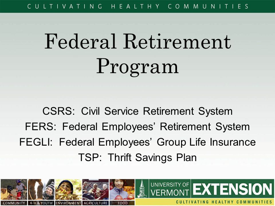Federal Retirement Program  Ppt Video Online Download
