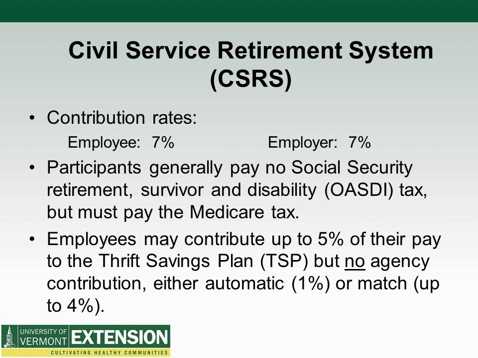 Civil Service Retirement System (CSRS)