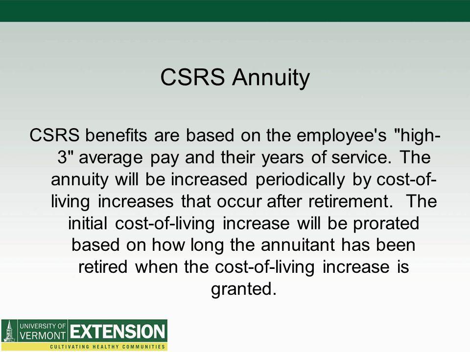 CSRS Annuity