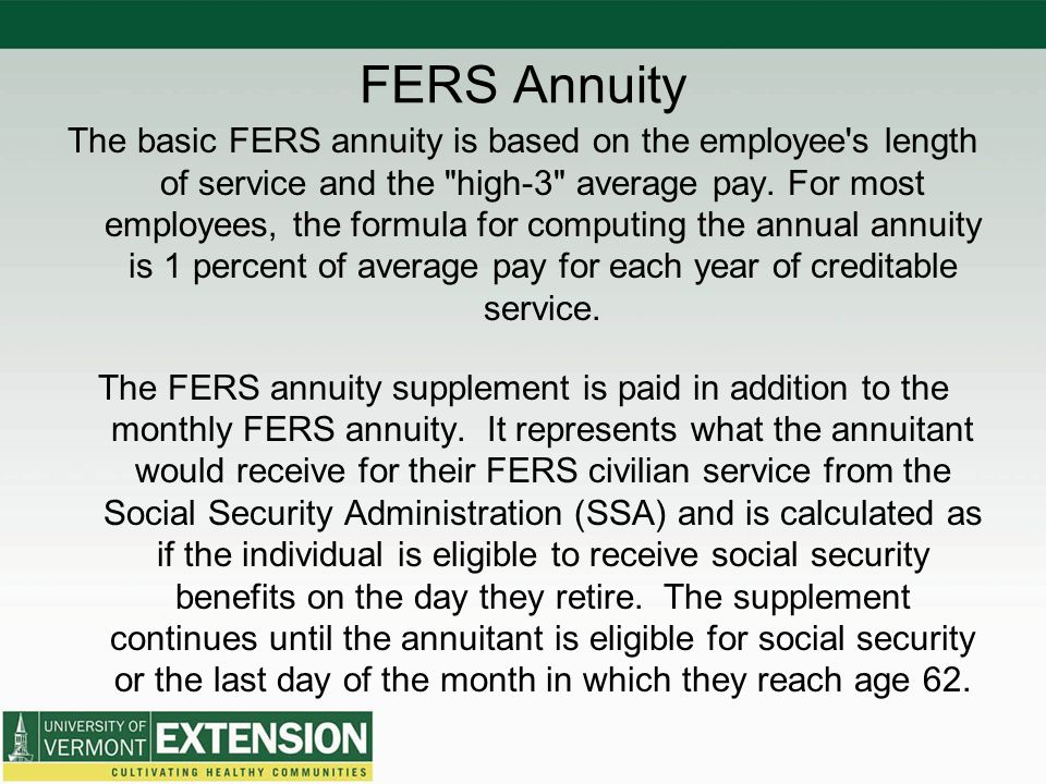 FERS Annuity