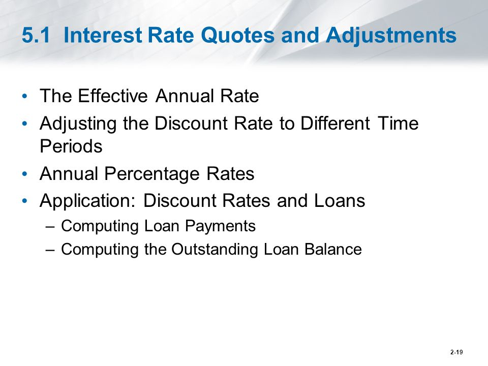 5.1 Interest Rate Quotes and Adjustments