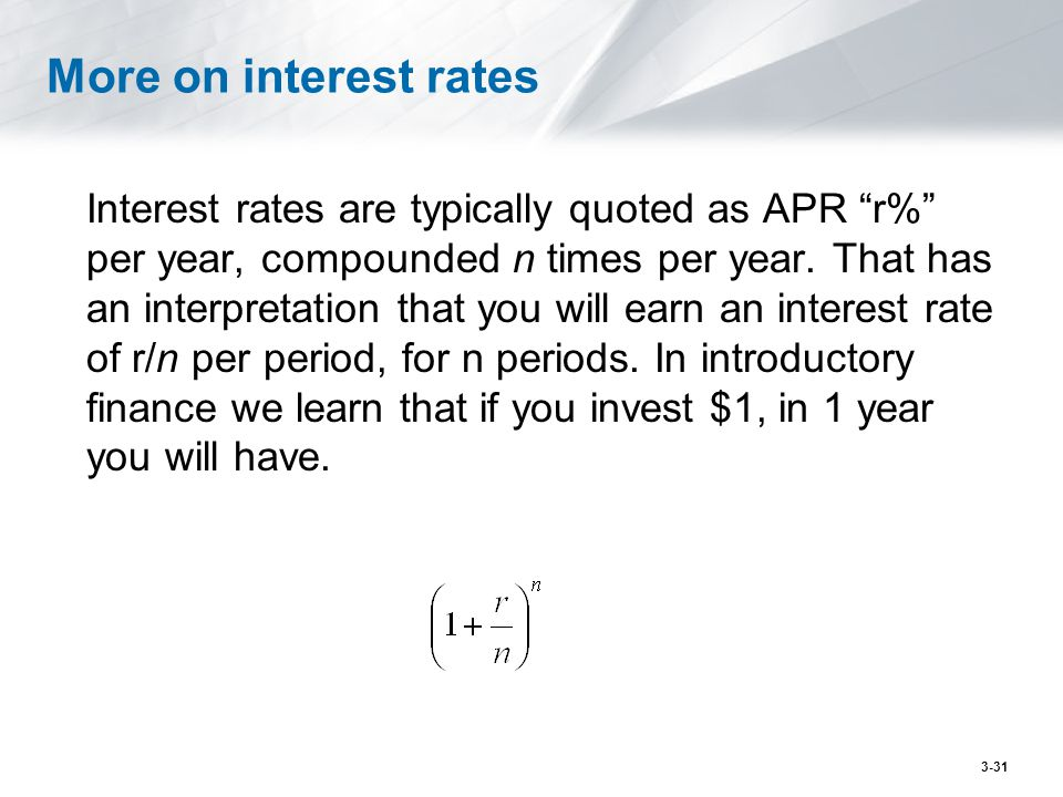 More on interest rates