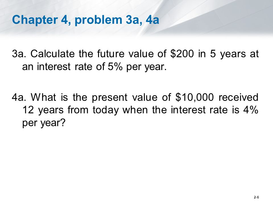Chapter 4, problem 3a, 4a