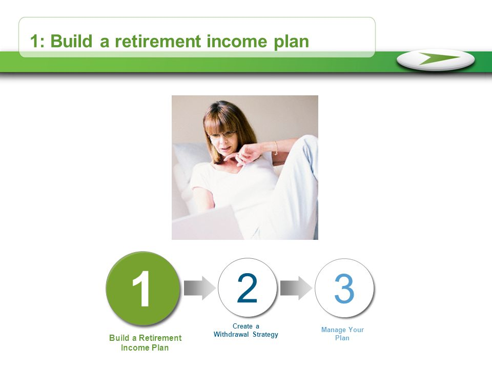 1: Build a retirement income plan