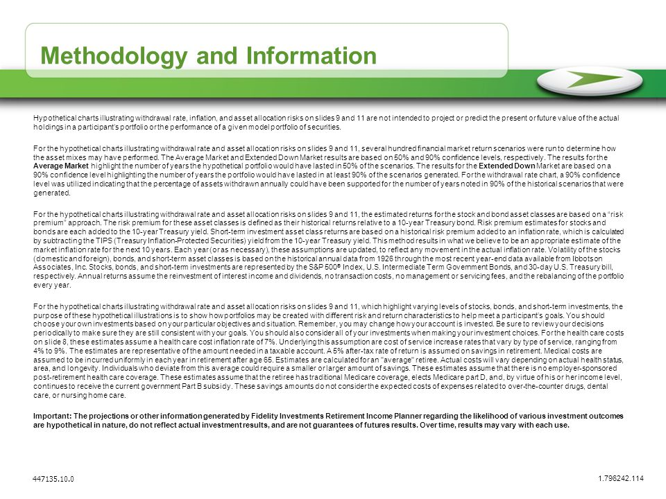 Methodology and Information